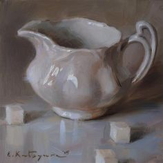 DPW Fine Art Friendly Auctions - Pearl White by Elena Katsyura