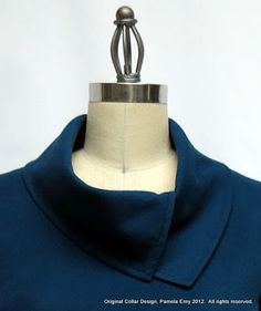 """The """"split cowl collar"""" tutorial: love this asymmetric collar. Off The Cuff ~Sewing Style~"""