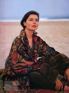 Isabella Rossellini by Fabrizio Ferri for Vogue US, 1993