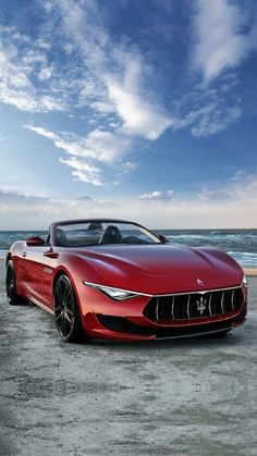 Constructed with the utmost attention to detail, every Maserati is a true masterpiece of Italian design. Here are 51 stunning Maserati cars! Luxury Sports Cars, Classic Sports Cars, Best Luxury Cars, Sport Cars, Classic Cars, Exotic Sports Cars, Maserati Granturismo, Maserati Alfieri, Maserati Car
