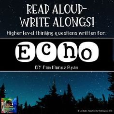 Echo Read Aloud Write Along Book Study by Tales From the Third Degree Book Log, Balanced Literacy, 4th Grade Classroom, Literature Circles, This Is A Book, Book Study, Writing Activities, Teaching Resources, Chapter Books