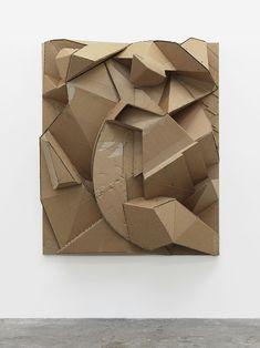 Florian Baudrexel Dark Silence In Suburbia Geometric Sculpture, Abstract Geometric Art, Abstract Sculpture, Sculpture Art, Cardboard Sculpture, Cardboard Art, 3d Studio, School Art Projects, Paperclay