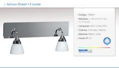 Philipsluz Directo En Tu Hogar Aplique 2 Luces Ideal Baños - $ 898,00 en MercadoLibre