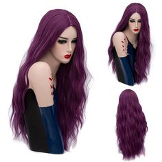 #SammyDress - #Rosewholesale Long Center Part Natural Wave Synthetic Wig - AdoreWe.com