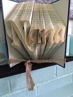"Book folding pattern for ""Nana"" +FREE TUTORIAL"