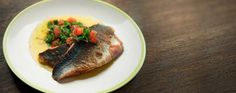 James Martin's pan fried sea bass with sauce vierge