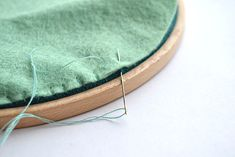 How to finish your embroidery in a hoop