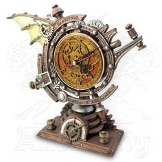 Map the forces that govern the passing of eternity with the Stormgrave Chronometer Clock.Find unique steampunk gifts at Apollo Box. Steampunk Wings, Steampunk Desk, Steampunk Fashion, Steampunk Artwork, Steampunk Jacket, Steampunk Drawing, Steampunk Furniture, Steampunk Gadgets, Steampunk Crafts