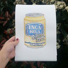 Inca Kola watercolour painting