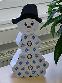 Make your own advent calendar out of toilet paper - Diy Gifts Winter Crafts For Kids, Christmas Crafts For Kids, Christmas Snowman, Simple Christmas, Diy Crafts For Kids, Christmas Time, Christmas Decorations, Diy Snowman, Diy Closets