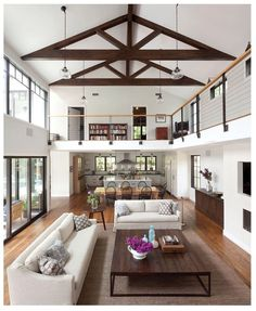 SAVED BY WENDY SIMMONS ,BEAUTIFUL WIDE OPEN FLOOR PLAN GORGEOUS WOOD THROUGH OUT LOVE THE CEILINGS THIS HAS NATURAL LIGHTING GORGEOUS HOW OPEN THE UP STAIRS ARE WITH THE DOWN STAIRS COUNTRY RUSTIC FARMHOUSE FEEL OPEN FLOOR PLAN