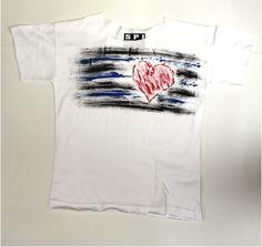 code 0176 white womens hand painted t-shirt