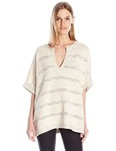 Vince Women's Sweater Speckle Stitch Popover, Off White/Black/Bone, X-Small/Small >>> You can find out more details at the link of the image. Sweater Fashion, Pullover Sweaters, Cool Things To Buy, Casual Dresses, Sweaters For Women, Tunic Tops, Small Small, Stitch, High Low