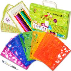 Drawing Stencils Set for Kids - Perfect Creativity Kit & Travel Activity - Arts and Crafts for Girls & Boys with Over 300 Shapes - Educational Toys Age Ideal Kids Gifts - Toys Craft Kits For Kids, Crafts For Girls, Toys For Girls, Fun Crafts, Art For Kids, Amazing Crafts, Simple Crafts, Summer Crafts, Amazing Art