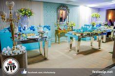 Decoração de 15 anos festa para debutante azul tiffany