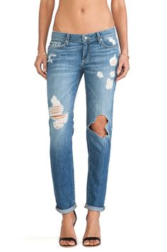 Love these distressed boyfriend jeans! - Jimmy Jimmy Skinny- Paige Denim in Clifton Destructed  #REVOLVEclothing
