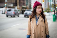Trench Coat & Beanie, Vancouver Street Style #fall #streetstyle http://streetscout.me/xrwq