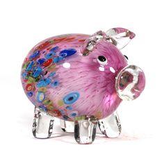 New arrival chriastmas blown glas figurines animals craft piggy