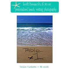 Beach Wedding Table Numbers by leftbeachfotos on Etsy, $66.00