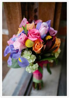 Super colorful bouquet!
