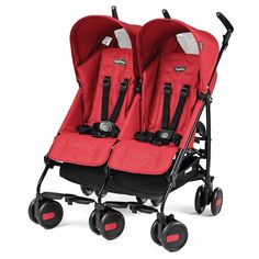 Peg Perego Pliko Mini Twin stroller, Mod Red