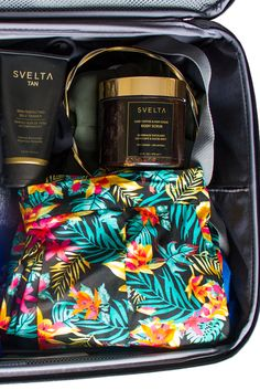 We're packing light, but we're not giving up our tanning essentials! Get smooth skin and a stunning beach glow anywhere with Svelta Tan. http://bit.ly/1RRU0a6 #svelta #sveltatan #tan #selftanner #tanning #selftanner #summer #vacation #suitcase
