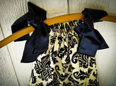 Damask and Satin Pillowcase Dress Occasion Dress by TheWildRaccoon, $26.00