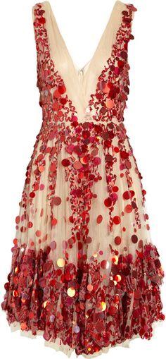 Valentino Embellished Tulle Dress