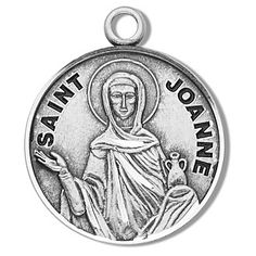 Sterling Silver Round Shaped St. Joanne Medal by HMH | Catholic Shopping .com