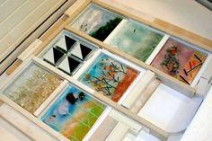 Gloria Badiner Master Glass Class at Ed Hoy's International: Kiln Formed Glass Master Mold Making