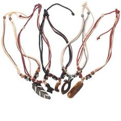 Get into the ethnic-chic style beat with carved bone and colorful cord necklaces. Carved wood and horn center pendants include dangling cords with glass, wood a Cute Jewelry, Beaded Jewelry, Jewelry Necklaces, Ethnic Chic, Bone Carving, Jewelry Supplies, Antique Gold, Handcrafted Jewelry, Bones