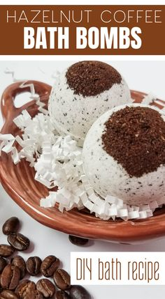 DIY Hazelnut Coffee Bath Bombs - a simple bath bombs recipe to make your own bath bombs in this simple coffee bath bombs recipe Best Picture For diy body care recipes For Your Taste You are looking fo Bath Boms Diy, Coffee Bath, Bombe Recipe, Homemade Bath Bombs, Bath Bomb Recipes, Homemade Beauty Products, Homemade Gifts, Food To Make, Shower Bombs