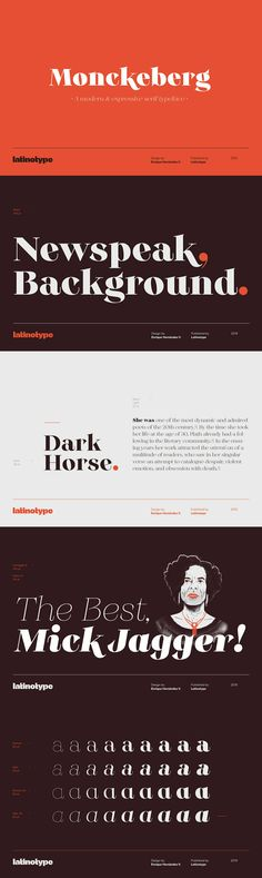 Monckeberg - Monckeberg is an expressive font with a strong personality which is based on century clas. Web Inspiration, Graphic Design Inspiration, Typography Letters, Lettering, Strong Personality, Calendar Design, High Contrast, 15th Century, Art Direction