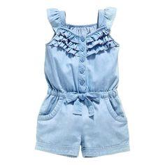 1634db705c2 Baby Girls Denim Jumpsuit - The Trendy Toddlers Denim Jumpsuit