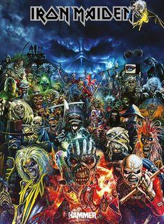 [Kindle] Calendrier mural 2020 pages Iron Maiden Eddie Album Covers Vintage Affiche, Auteur : Pixiluv Iron Maiden Band, Iron Maiden Eddie, Iron Maiden Cover, Heavy Metal Bands, Heavy Metal Art, Rock Posters, Band Posters, Iron Maiden Albums, Iron Maiden Posters