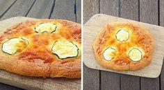 Überbackenes Low-Carb-Fladenbrot (Zucchini-Käse)