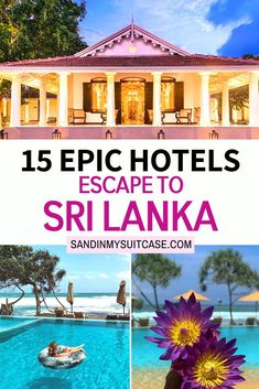 15 Epic Hotels escape to Sri Lanka. Check out our guide to 15 insanely beautiful hotels in Sri Lanka! These are some of the best Sri Lanka hotels. #SriLanka #Hotels #resorts #luxuryhotel All Inclusive Resorts, Hotels And Resorts, Best Hotels, Beautiful Hotels, Beautiful Places To Visit, Travel Destinations, Travel Tips, Amazing Adventures, Asia Travel
