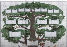 The woozy Go To Heaven: Tree Chart Pedigree in Cross Stitch