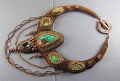 Bead Embroidered Necklace by YmrDesigns on Etsy, $475.00