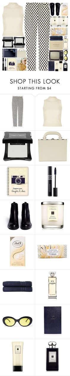 """""""6328"""" by tiffanyelinor ❤ liked on Polyvore featuring J.Crew, River Island, Illamasqua, Bertoni, Christian Dior, Ash, Jo Malone, Lindt, Linum Home Textiles and Chanel"""