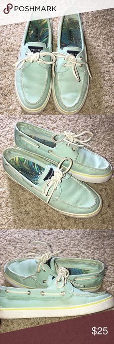 Sperry Top Sider Shoes - Size 7.5 Cute Pastel color. Excellent condition, like new. Only worn a few times. Sperry Top-Sider Shoes Sneakers