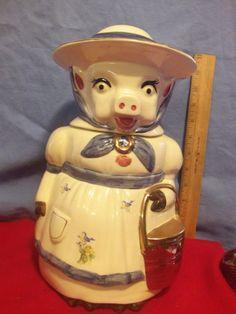 Vintage Shawnee Pottery SOWLY Cow Cookie Jar