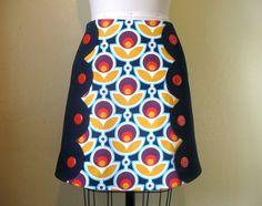 Miss Mod scalloped mini skirt by LoveToLoveYou on Etsy
