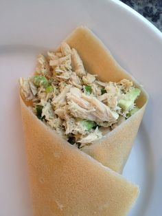 Tuna & Avocado Wraps #whole30 #paleo replace with chicken!  Includes link for Pure Wraps, whole 30 wraps!!!!