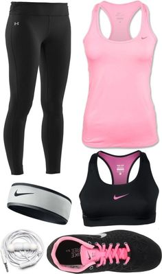 Cute athletic outfits for school. cool stylish summer workout outfits for women - gym outfit ideas Summer Workout Outfits, Workout Attire, Workout Wear, Workout Pants, Workout Style, Nike Workout Gear, Sport Fashion, Look Fashion, Fitness Fashion