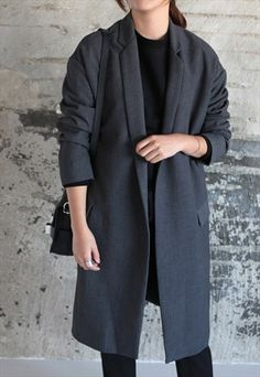 Cocoon-fit oversized jacket