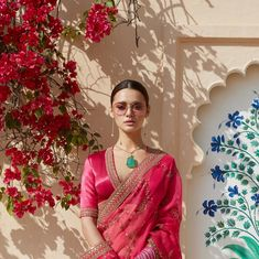 Indias most popular and my favorite Sabyasachi has shared his summer 2019 collection. pink and yellow embroideried lehenga along with finest jewelary and pink, yellow sherwani with decent but kille… Sabyasachi Lehenga Bridal, Lehenga Choli, Anarkali, Bollywood Saree, Bollywood Fashion, Saree Fashion, Lehnga Dress, Fashion Dresses, Indian Blouse