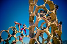 Bliss Dance in a Sand Storm, Burning Man Departure Dinner Santa Clara, CA - As I write this, other folks are busy gettin. Cool Playgrounds, Parc A Theme, Kindergarten Design, Autocad, Natural Playground, Playground Design, Play Spaces, Black Rock, Burning Man