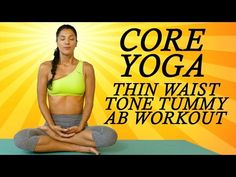 Yoga for Abs, Core & Belly Fat with Sanela   Beginners at Home Yoga Workout for a Flat Tummy - YouTube