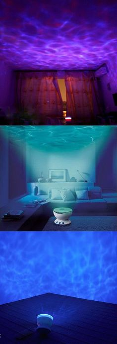 Bliss Out with the Ocean Wave Relaxation Projector. Use it in your bedroom, bathroom or living room to transform it into a place of peace and calm. #oceanprojector #waveprojector
